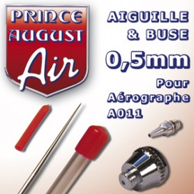 Aiguille & Buse 0,5 pour aérographe A011