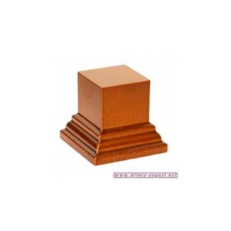 Socle carré 4x4x3 cm  Noisette
