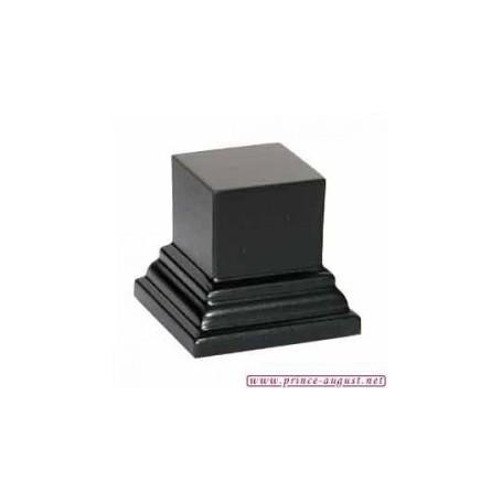 Socle carré 4x4x3 cm  Noir