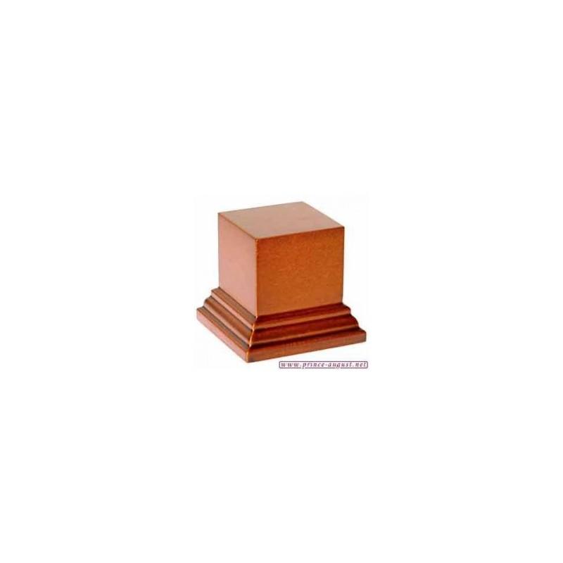Socle carré 5x5x4 cm  Noisette