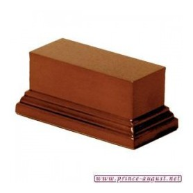 Socle rectangulaire 4x10x5 cm  Noisette