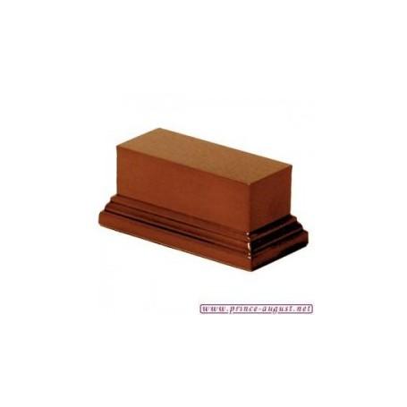 Socle rectangulaire 4x10x5 cm  Noisette