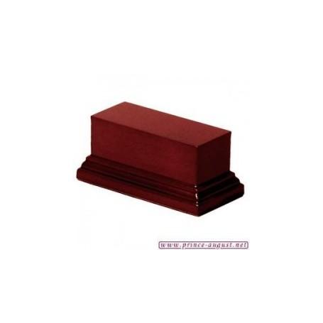 Socle rectangulaire 4x10x5 cm  Acajou