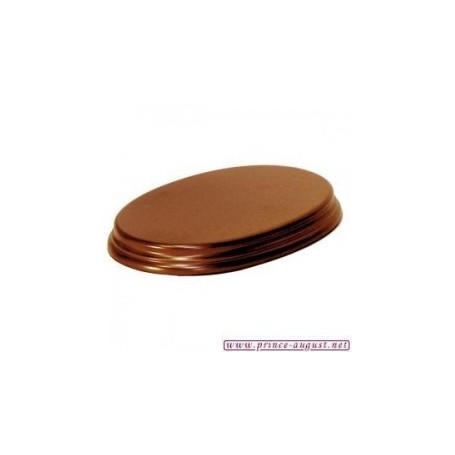 Socle  Ovale 11x16,8x2,5 Noisette