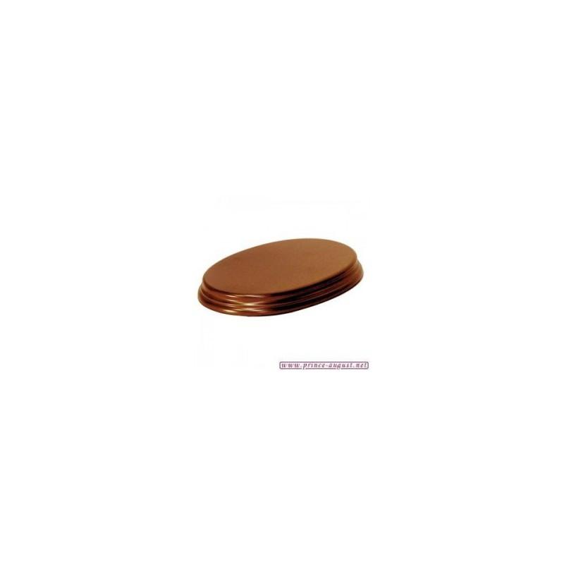 Socle Ovale 14x20x2,5 Noisette
