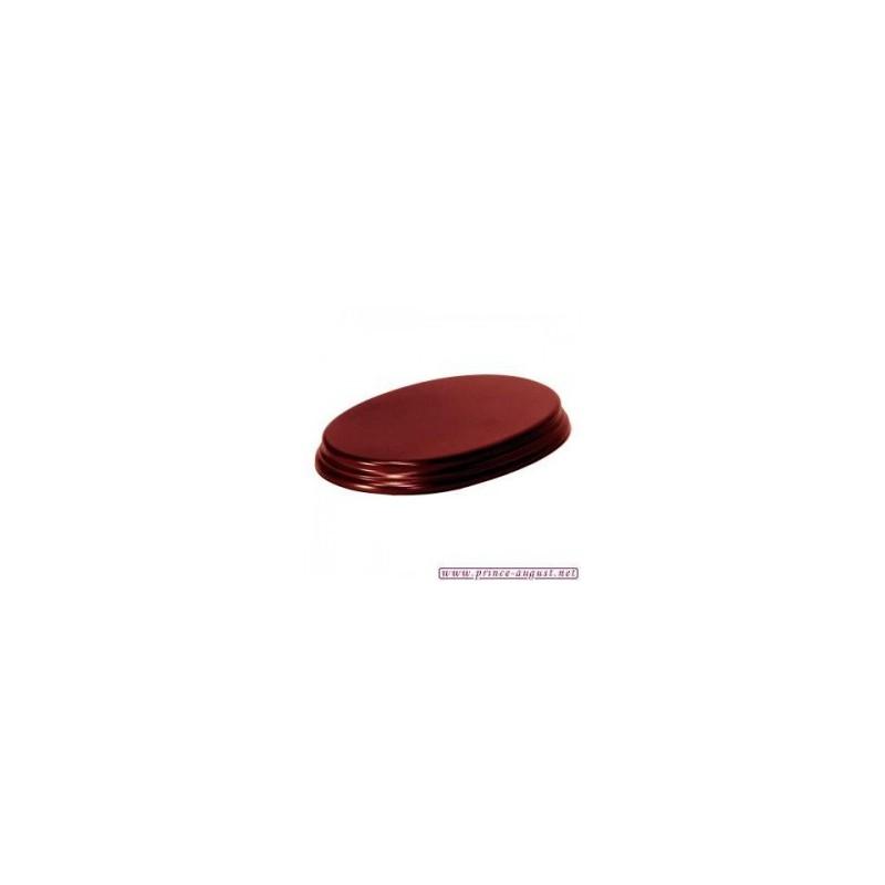 Socle  Ovale 14x20x2,5 Acajou
