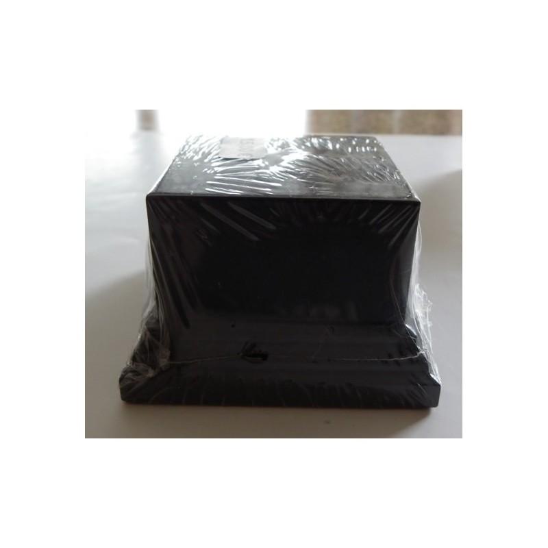 Socle carré noir 50mm 6X6