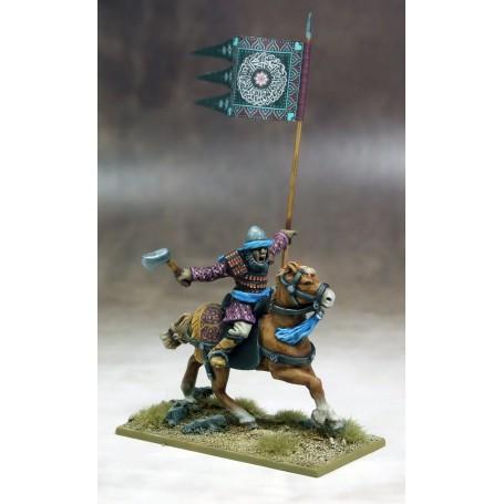 Bannière de Guerre Sarrasins (un cavalier et sa bannière)