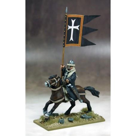 Bannière de Guerre Templiers (un cavalier et sa bannière)