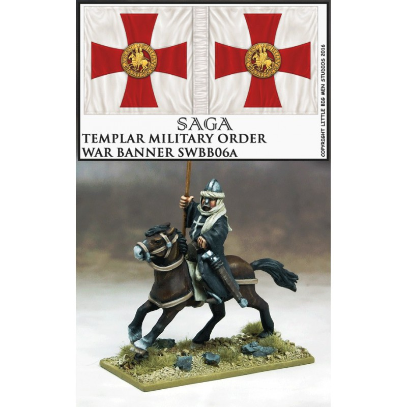 Bannière de Guerre Hospitaliers (un cavalier et sa bannière)