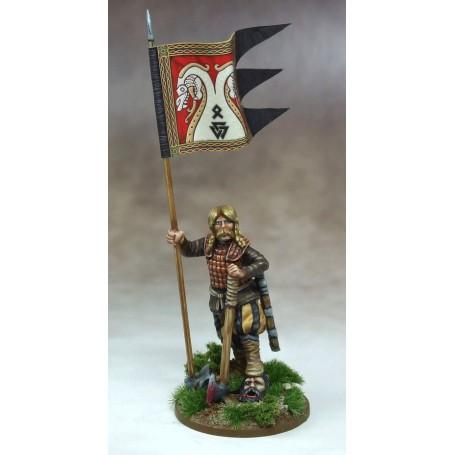 Bannière de Guerre Jomsviking (une figurine et sa bannière)