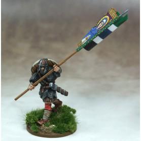Bannière de Guerre Anglo-saxonne (une figurine et sa bannière)
