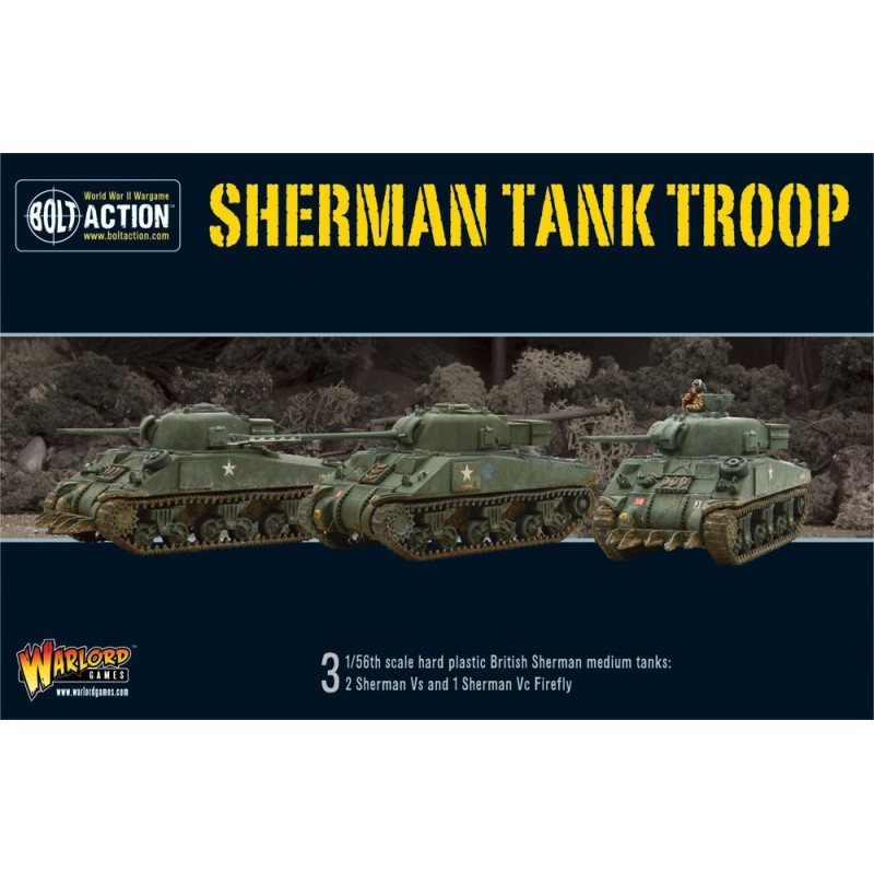 British Sherman V Troop (2 Sherman V and 1 Firefly)