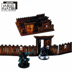 Fabled Realms Village Fencing with gates