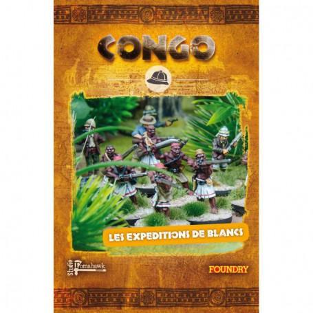 Colonne des Expéditions de Blancs (24 figs, socles inclus)