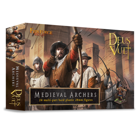 Medieval Archers (24-Foot Figurines Plastiques), Fireforge
