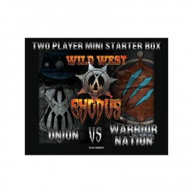 Two player mini starter box Union VS Warrior Nation, starter pour Wild West Exodus, par War Craddle Studios