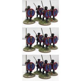 Levées Romaines (lances et boucliers)