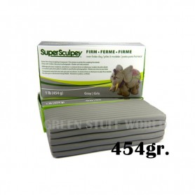 Super Sculpey Firm Grise 454 gr