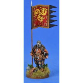 Bannière de Guerre Saxonne (une figurine et sa bannière)