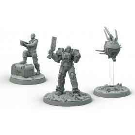 Fallout: Wasteland Warfare - Brotherhood of Steel Knight-Captain Cade and Paladin Danse