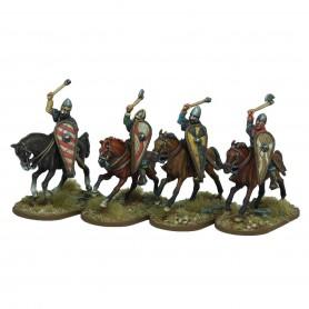 Norman Cavalrymen thrusting overarm