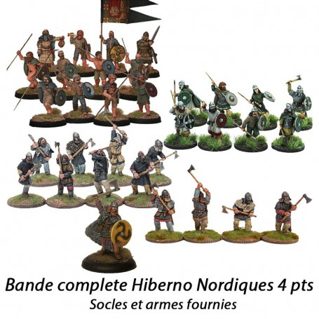 Hiberno norses complete warband 4 pts