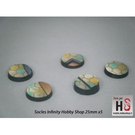 Infinity Hobby Shop Bases, Round 25mm (5)