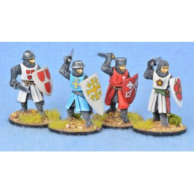 Crusading Foot Knights (Open Helms) (Attacking)