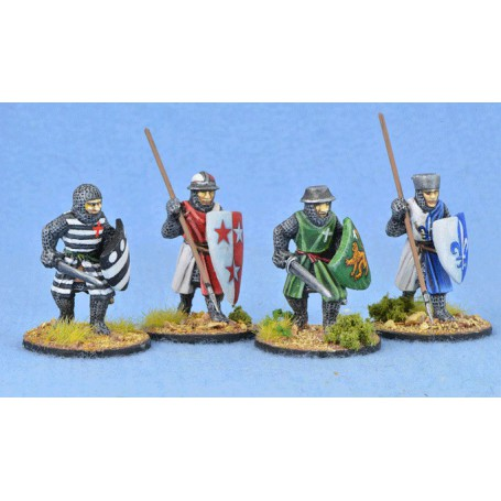 Crusading Foot Knights (Open Helms) (Advancing)