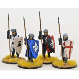 Crusading Foot Knights (Open Helms) (Standing)