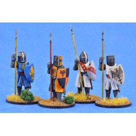 Crusading Foot Knights (Great Helms) (Standing)