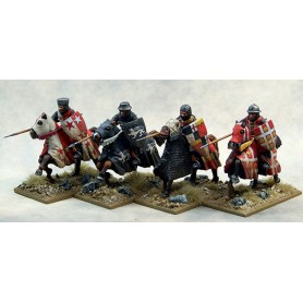 Mounted Crusading Knights (Open Helms) (Lance Couched)