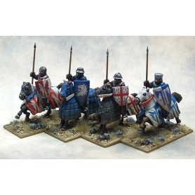 Mounted Crusading Knights (Open Helms) (Lance Upright)