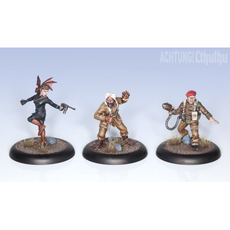 Achtung Cthulhu Miniatures - Allied Investigators Pack 2