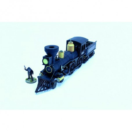 19th C. American Steam Locomotive (Black)