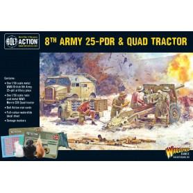 8th Army 25pdr, Quad and limber