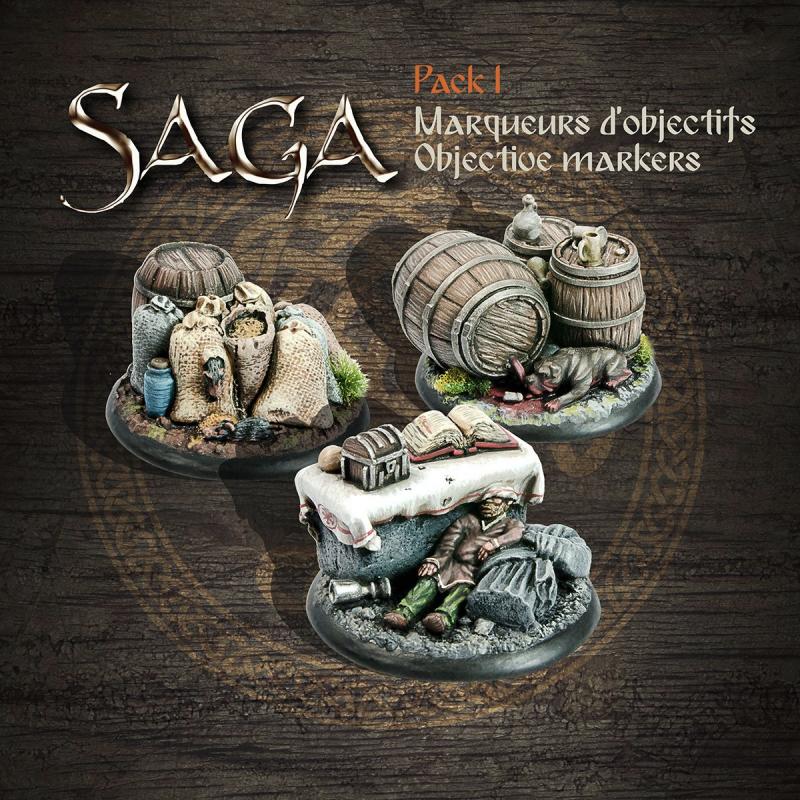 Packs Marqueurs Objectifs Saga I (3 décors en résine)
