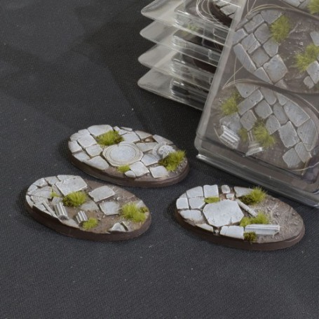 Temple Bases Oval 75mm