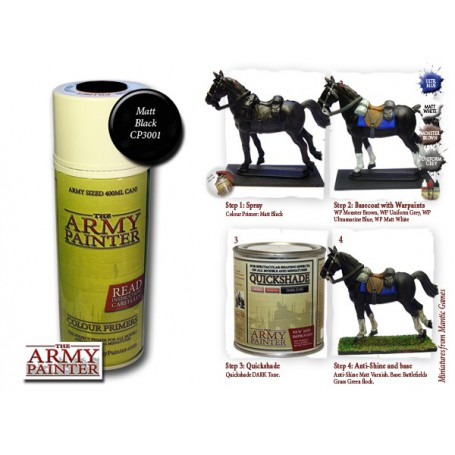 Matt Black Undercoat, Bombe de couleur, Army Painter