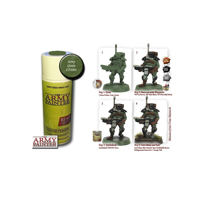 Army Green, Bombe de couleur, Army Painter