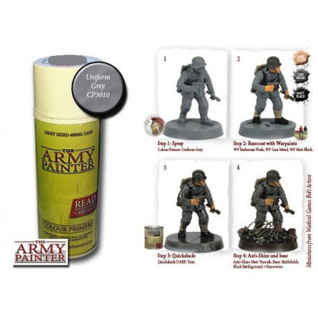 Uniform Grey, Bombe de couleur, Army Painter