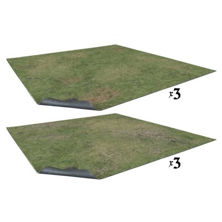 Grassy Fields 6x4 Gaming Table (6 tapis de 60x60 cm de 2 différents types)