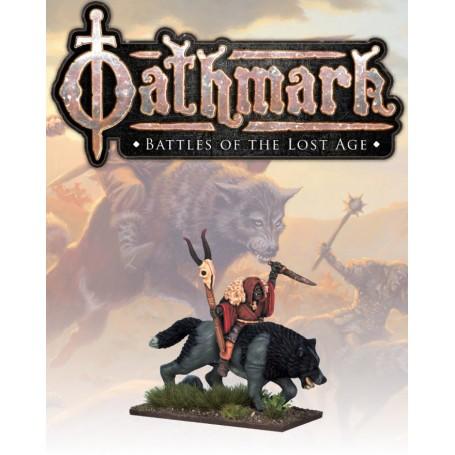 Oathmark Goblin Wolf Rider Shaman
