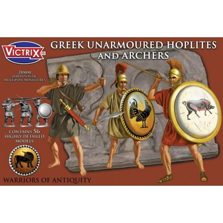 Victrix Greek Unarmoured Hoplites and archers
