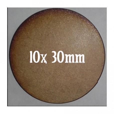Socles Mdf Ronds 30mm x10