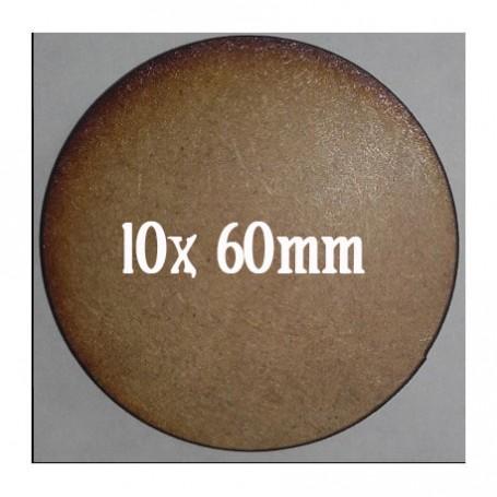 Socles Mdf Ronds 60mm x10