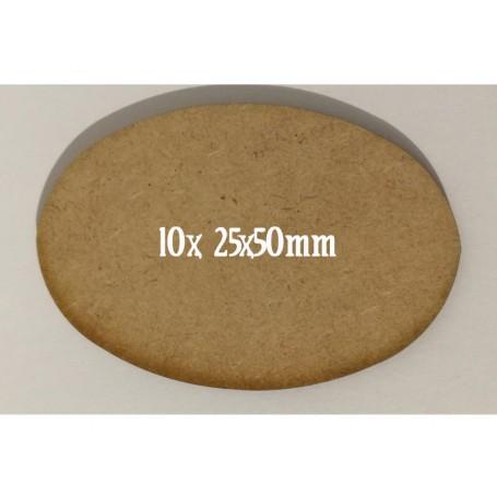 Socles Mdf Ovales 25x50mm x10