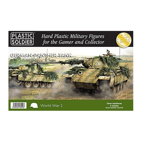 15Mm Ww2 German Panther Ausf D, A And G Tank, Plastic Soldier