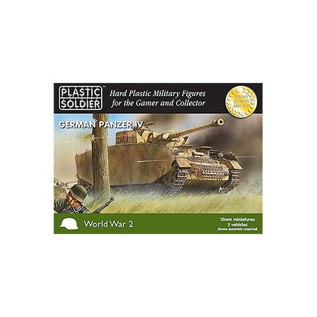 15Mm Ww2 German Panzer Iv Tank, Plastic Soldier